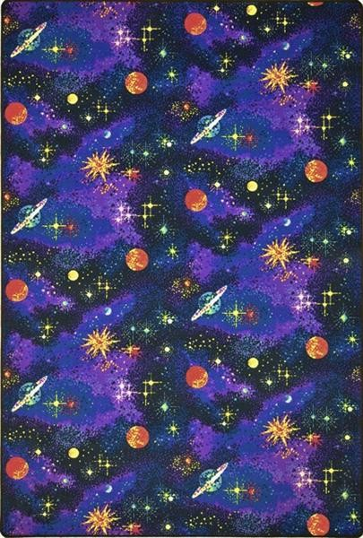 Neon Rug Space Explorer - Black Light Area Rug