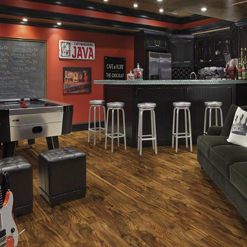 Pros And Cons Of Laminate Flooring beautiful interior of hardwood floor leading up to staircase Avenues Natural Acacia Shaw Laminate Flooring