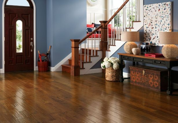 American Scrape Hickory Armstrong Engineered Hardwood Flooring