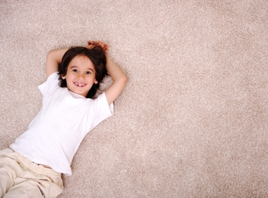 Child-On-Frieze-Carpet