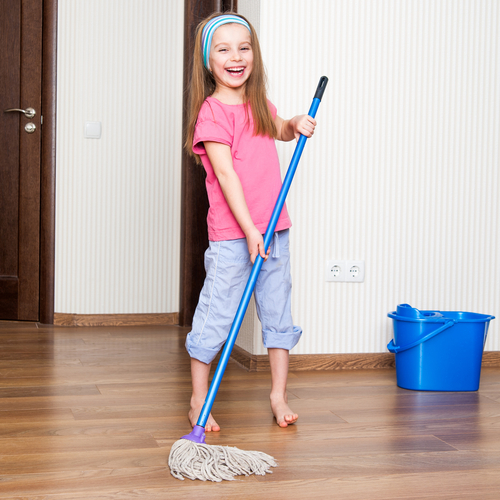 children cleaning - photo #3